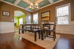 Wood Floor Dining Room